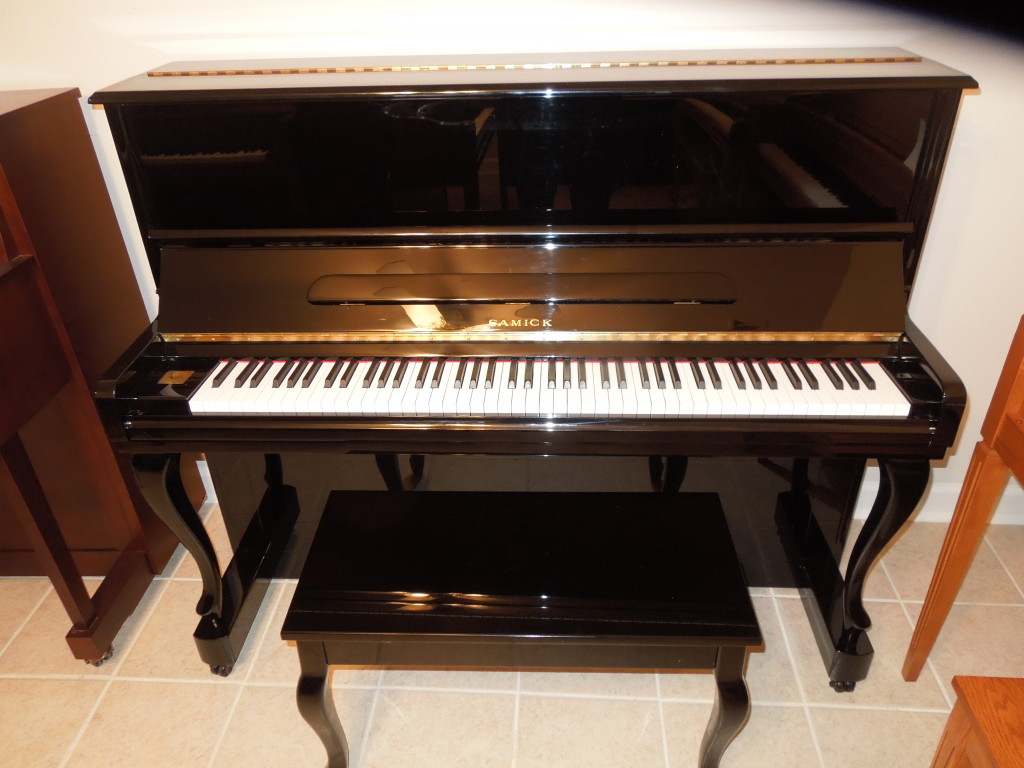 LIKE NEW SAMICH STUDIO PIANO WITH FRENCH DESIGN  $3495