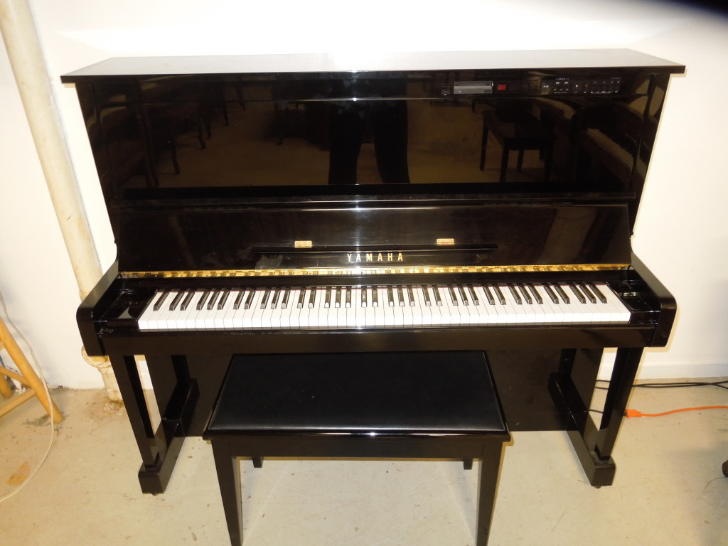 U1 YAMAHA STUDIO PIANO WITH SELF PLAYER BUILT IN AT FACTORY  ONLY $4999